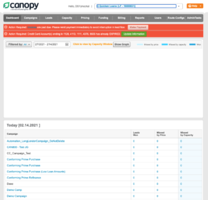 Canopy Dashboard